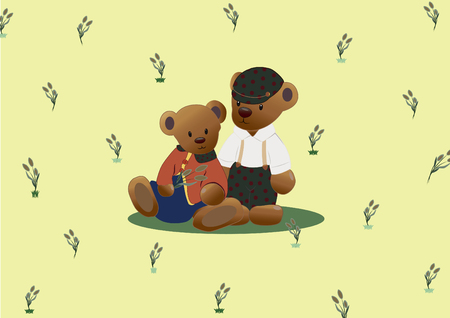 child sitting: Cute black teddy bear icon with heart on white background