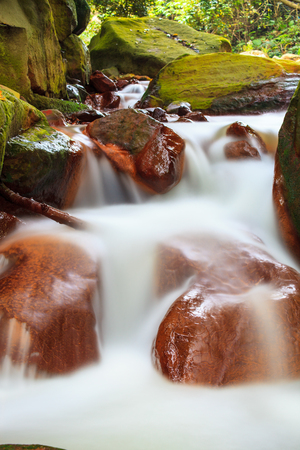 The Huangsi River bed with nice water in Taipei, Taiwan Stock Photo - 52205598