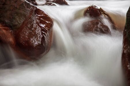 The Huangsi River bed with nice water in Taipei, Taiwan Stock Photo - 52205552