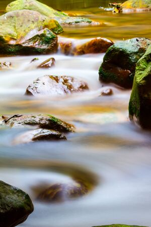 The Huangsi River bed with nice water in Taipei, Taiwan Stock Photo - 52205557