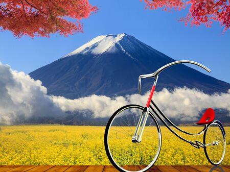 unesco: The image of beautiful fuji mountain japan Stock Photo