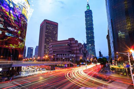 taiwan: Taipei, Taiwan - Jul 21, 2016 : Taipei cityscape at twilight in Taiwan city