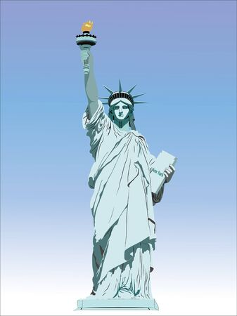 The Statue of Liberty. 版權商用圖片