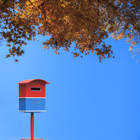 The 3d rendering mailbox with nice background image Stock Photo
