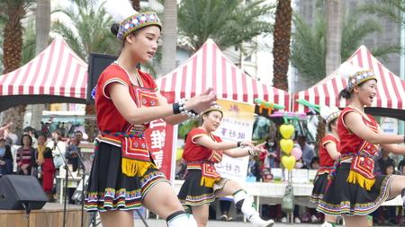 sexy girl dance: Hualien, Taiwan - Apr, 29 2017: Aboriginal dance performances in Hualien Culture Park, Hualien Taiwan