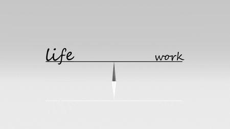 work life balance: THe 3d rendering of work life balance, business work life concept Stock Photo
