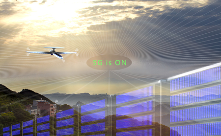 The 3d rendering of 5G Network Connection Concept