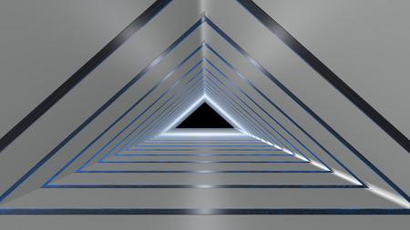 The 3d rendering of corridor interior design with nice light Stock Photo