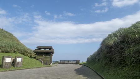 Le Miscanthus sur le Cao Ling Ancient Trail dans le coin nord-est de Taïwan