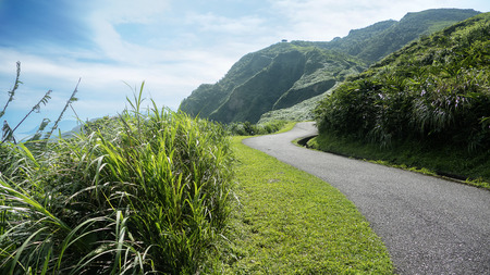 The Miscanthus on the Cao Ling Ancient Trail in the northeast corner of Taiwan Banque d'images