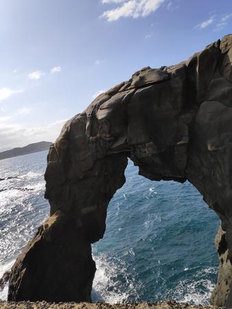 The Elephant Trunk Rock at the coast of Taiwan, Shenao, New Taipei, Taiwan