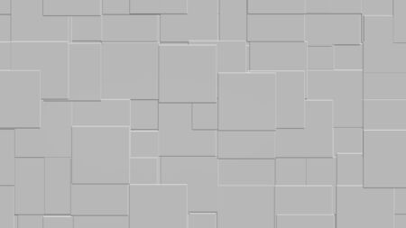 Le rendu 3d du modèle sans couture de mosaïque de tuiles avec la couleur gentille