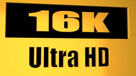 The 16K - display resolution - computer generated image (3D render)