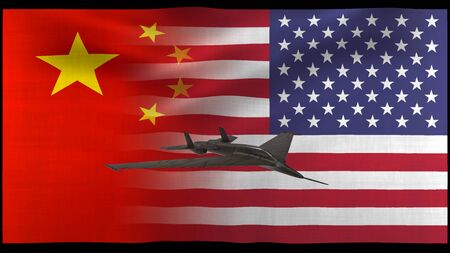 The USA and China trade war, economy conflict Stock Photo