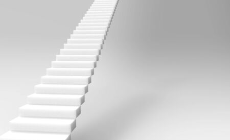 The 3d rendering of stair to upside isolated
