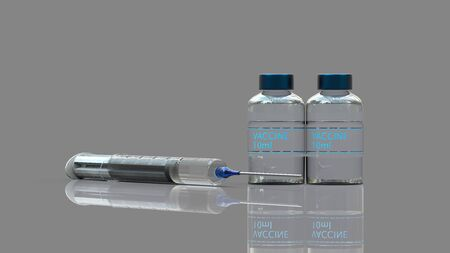 The 3d rendering of medical concept vaccination hypodermic