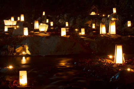 The Flow into the river a lantern memorial service for the ancestors