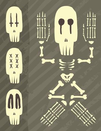 dia de muerto: D�a de la ilustraci�n del esqueleto muerto