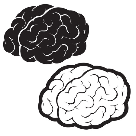 Brains, Silhouette Illustration