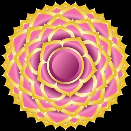Medaillon Award Badge of Hindoe Chakra van Sahasrara
