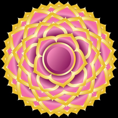 Medallion Award Badge or Hindu Chakra of Sahasrara Illustration