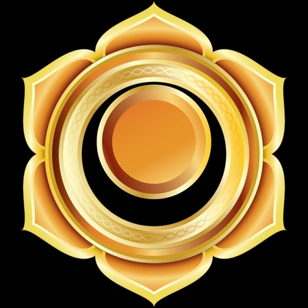 Medallion Award Badge or Hindu Chakra of Svadhisthana 版權商用圖片 - 9931479