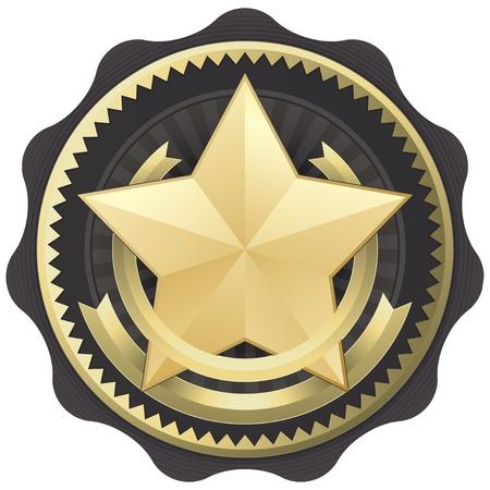 excelente: Badge oficial de certificaci�n de emblema de sello o premio Vectores