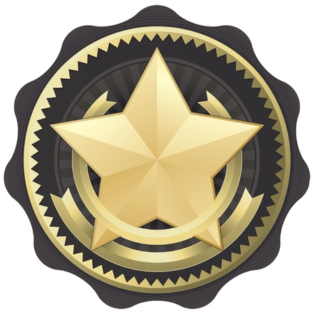 Official Seal Emblem Certification Badge or Award Vector