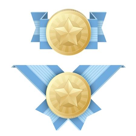 Medal Award or Certification Emblem
