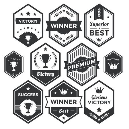 achievement clip art: Collection of premium badges and packaging labels