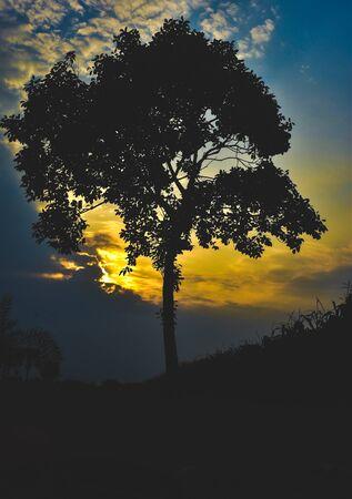 Wonderful Sunset in village side Foto de archivo