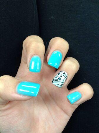 nails: Gel nails Stock Photo