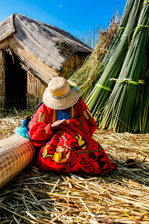 handwork: Red Woman of the tribe  Handwork