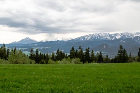Beautiful panorama in the Polish mountains  photo