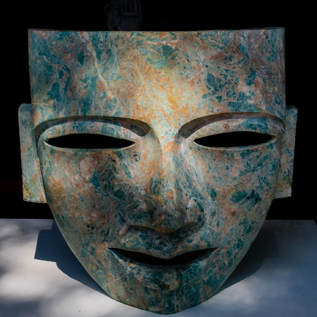 indian artifacts: Mask Maya