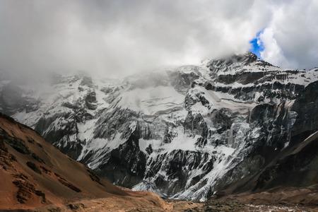 The highest mountain in South America, Aconcagua, Mendoza, Argentina photo