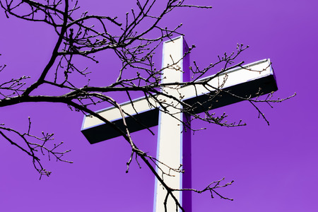 good judgment: Cross on a background of apocalyptic sky