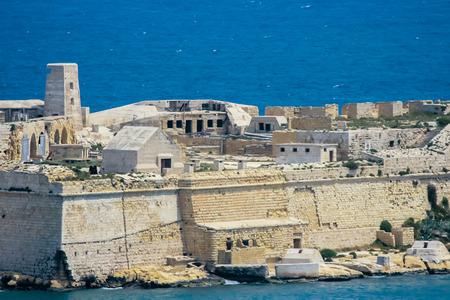 View of Ricasoli Fort and Grand Harbour. Malta