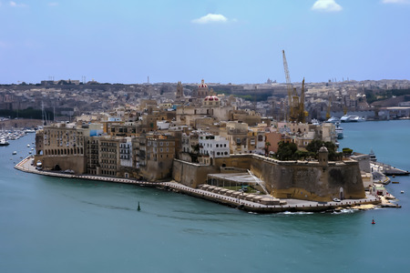 The fortified grand harbour in Valletta, Malta