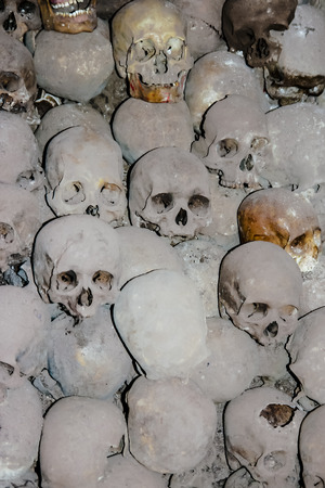Graves with skulls photo
