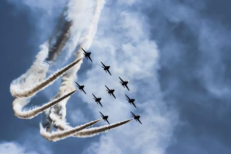 avion de chasse: Afficher des jets de force