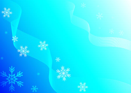 illustration of some snowflakes and blue gradient