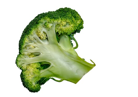 green cabbage broccoli isolated on white background