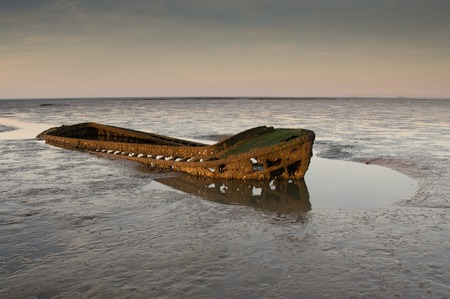 decreased: old wreck Stock Photo