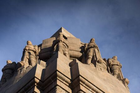 largest: the guards at the monument of the battle of the nations