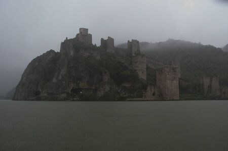 southeast europe: Golubac Castle during a dusty Day