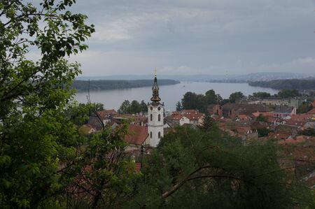 southeast europe: Views of the old town Zemun Stock Photo