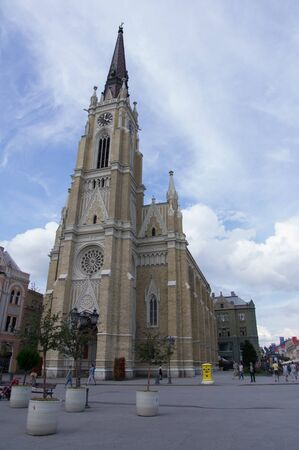 southeast europe: Saint Maria Church in Novi Sad Stock Photo