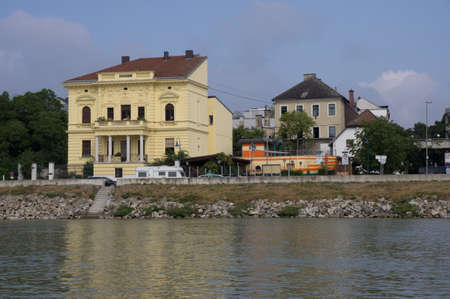 linz: Promenade from Linz  - view from the danube
