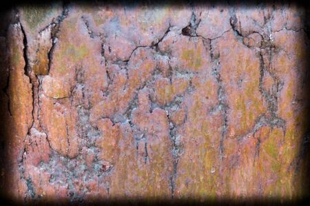 spall: part of a rusty old bucket Stock Photo